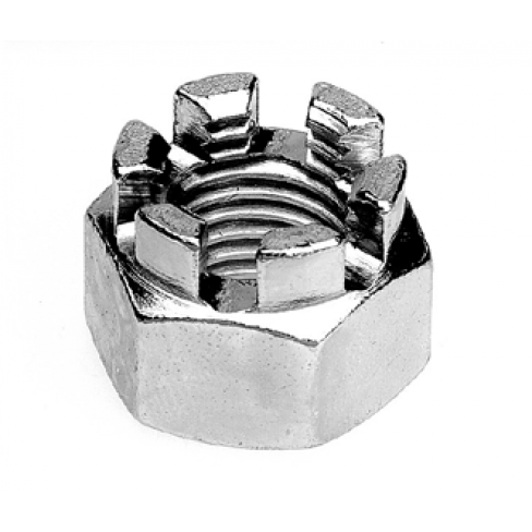 Castle Nut zinc plated