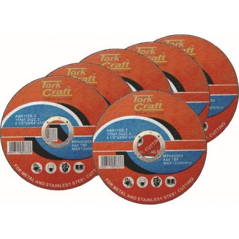 5 + 1 FREE CUTTING DISC STEEL 115 X 1.0 X 22.2MM