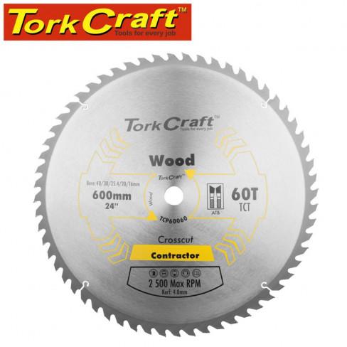 TCT SAW BLADE 600X60T 4MM KERF 40/30/1/20/16