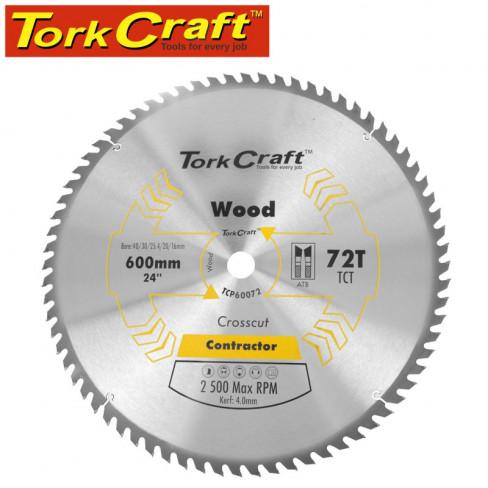 TCT SAW BLADE RIP & CROSS 600X72T 40/30/25.4/20/16